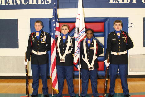 Color Guard for 2015-2016 Homecoming
